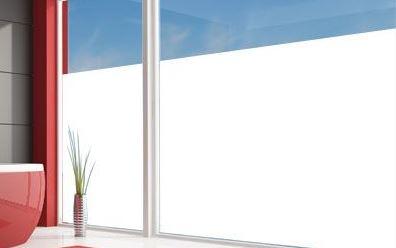 vitrophanie pour cloison de bureau- Film dépoli blanc opaque