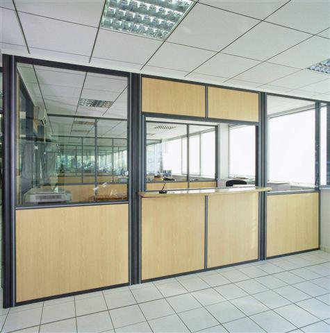 guichet accueil cloisons bureaux