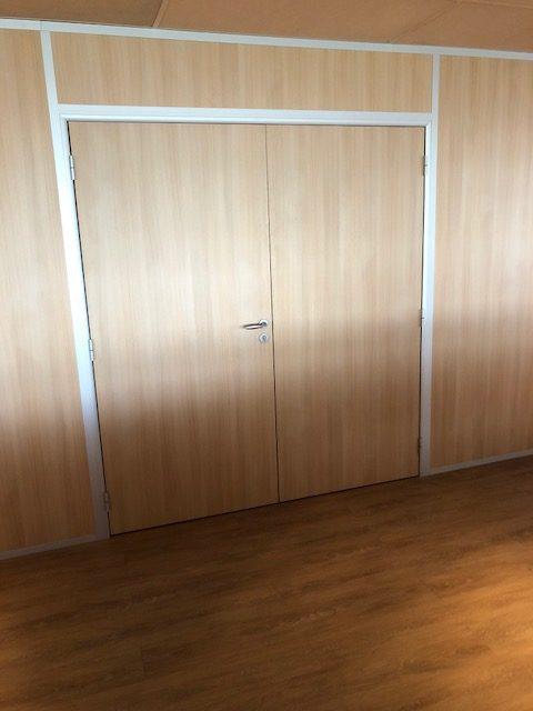 Espace cloisons Alu Ile de france - Cloisons Amovibles avec panneaux pleins toute hauteur et double porte